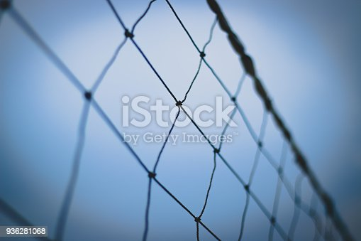 istock Close Up of Volley Net 936281068
