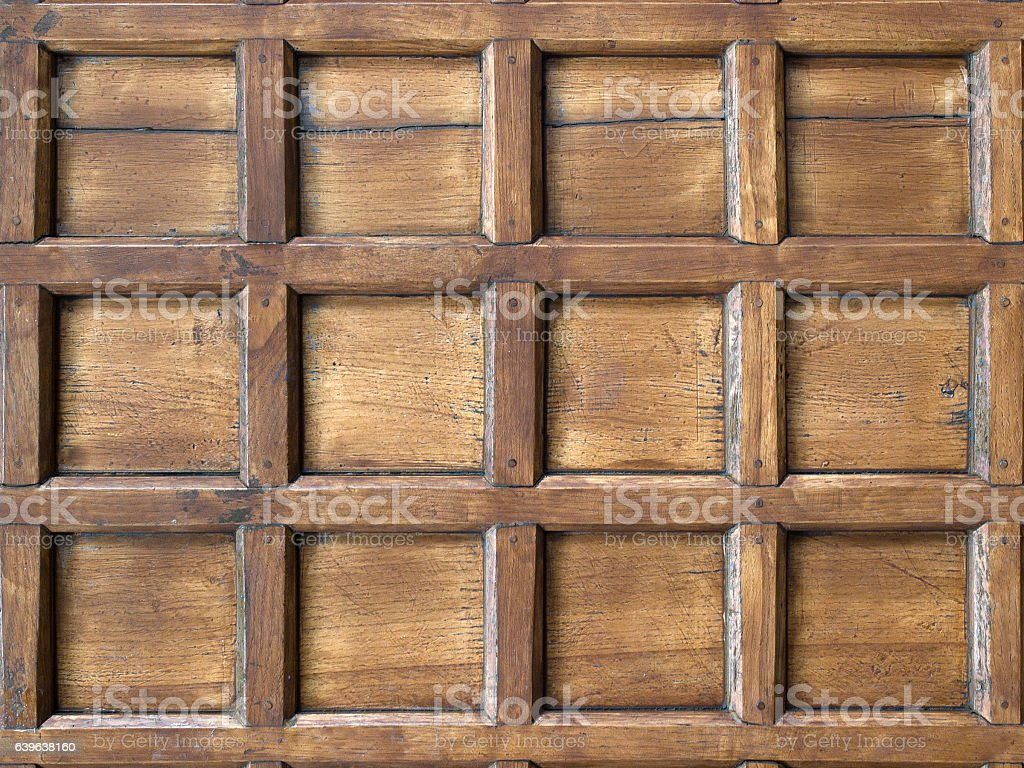 close up of wall made of wooden planks stock photo