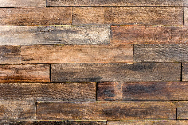 close up of wall made of wooden planks wood texture stock photo