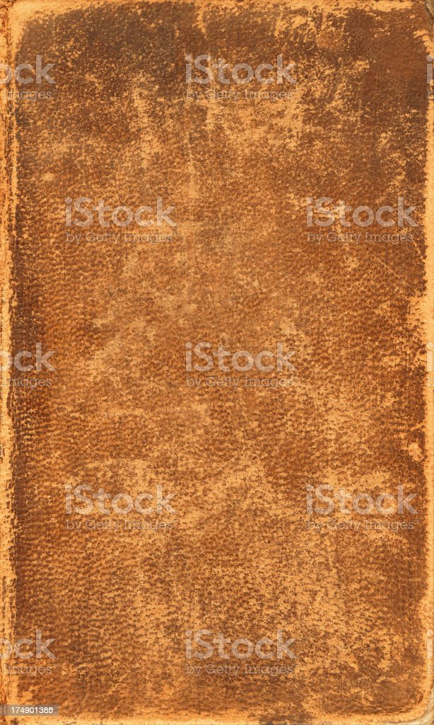Close up of weathered and worn antique leather stock photo