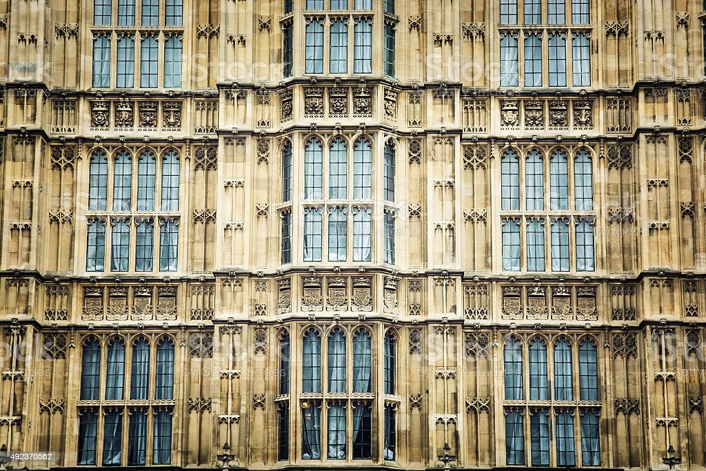 Close up of Westminster palace stock photo