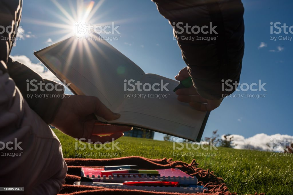 Close up of white page of book. stock photo