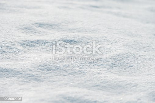 Close up of white snow background.