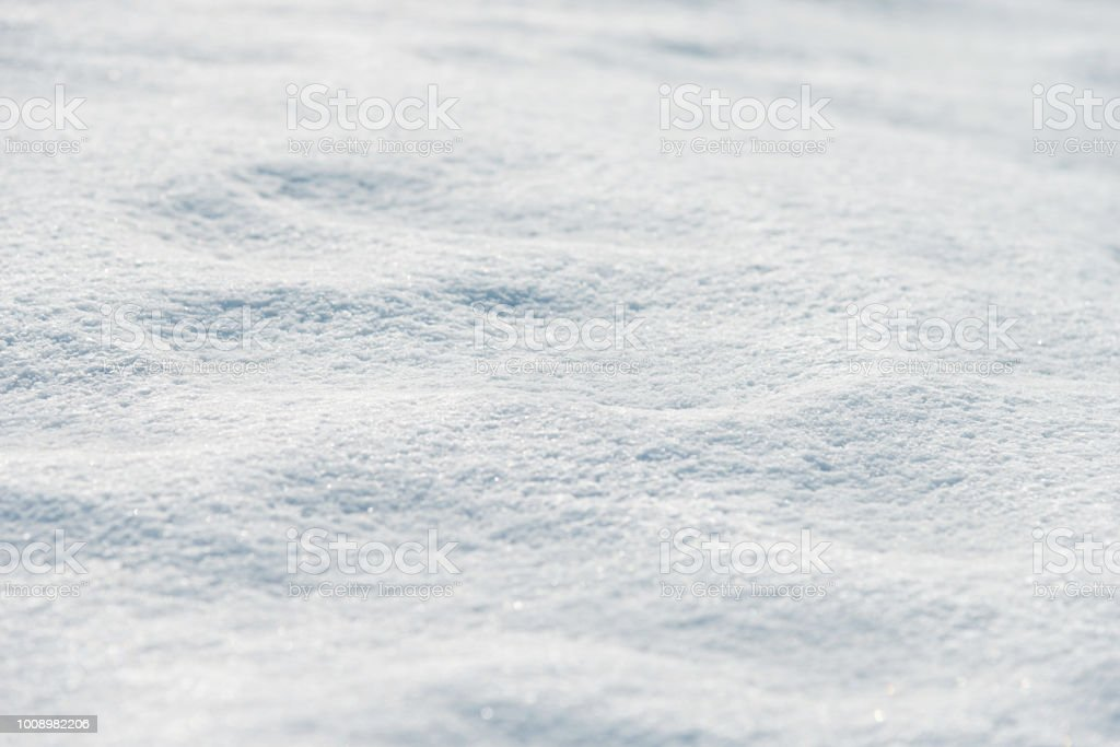 Close up of white snow background stock photo