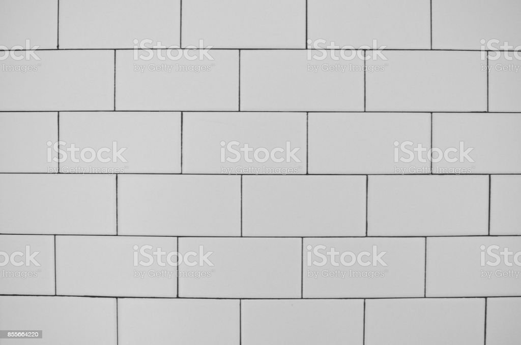 Close-up de azulejo branco metro - foto de acervo