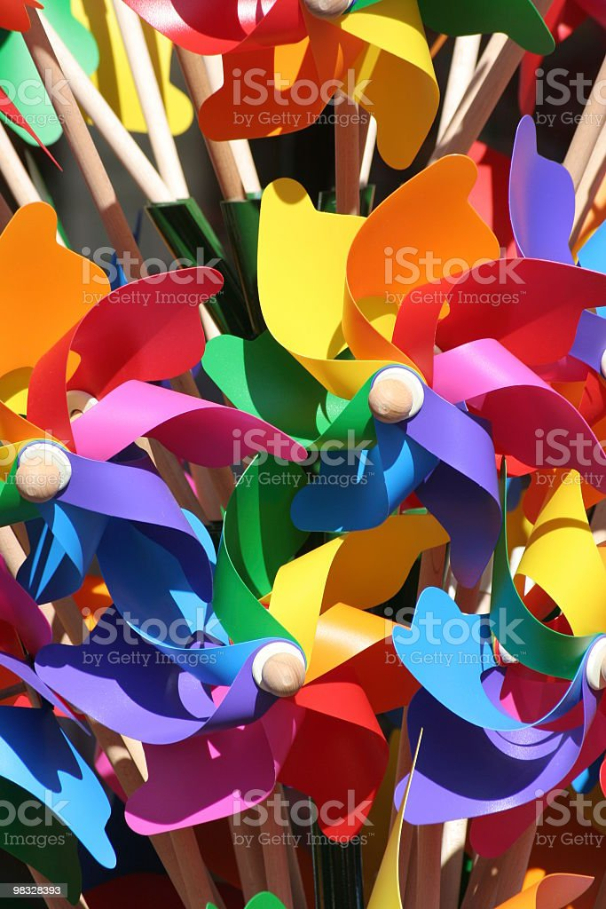 Close up of windmills royalty-free stock photo