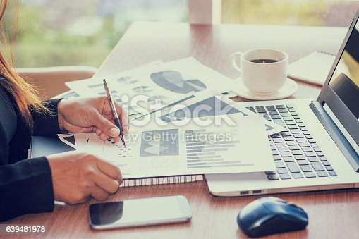 istock Close Up of woman hands using mobile phone 639481978