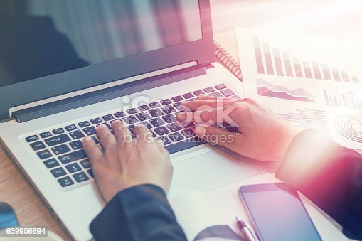 istock Close Up of woman hands using mobile phone 639956894