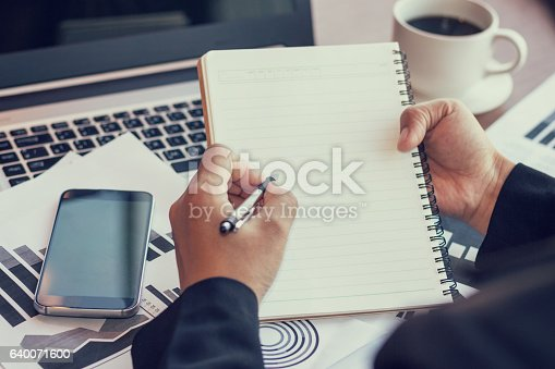 istock Close Up of woman hands using mobile phone 640071600