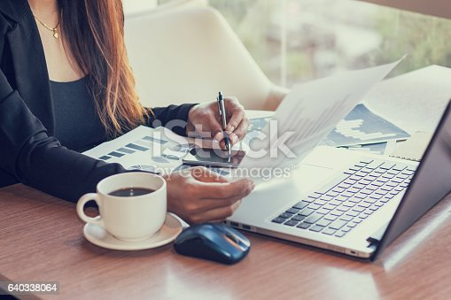 istock Close Up of woman hands using mobile phone 640338064