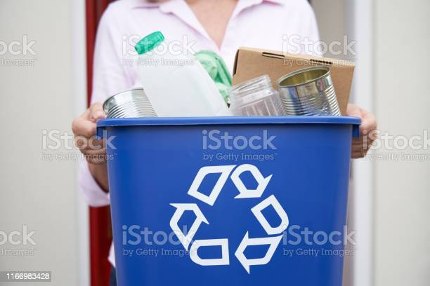 Close up of woman holding recycling bin of reusable waste outside picture id1166983428?b=1&k=6&m=1166983428&s=612x612&h=m7l0pqji3a0hgf77eck4lrwwzlqsew5hu niulqblve=