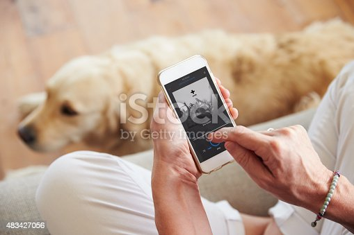483426960istockphoto Close Up Of Woman Listening To Music Smartphone At Home 483427056
