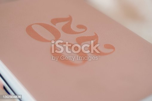 1162245415 istock photo Close Up Of Woman Opening New Year 2020 Diary On bed 1202934836