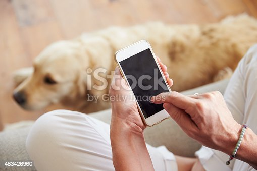483426960istockphoto Close Up Of Woman Using Smartphone At Home 483426960