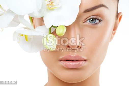 close up of woman with natural make-up