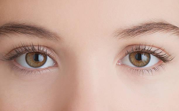 Close-up da Mulher's eyes - foto de acervo