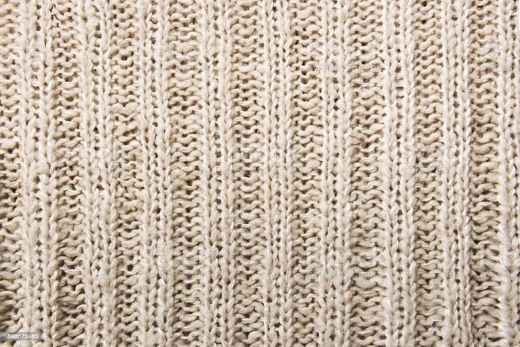 Close up of woolen knitted texture stock photo