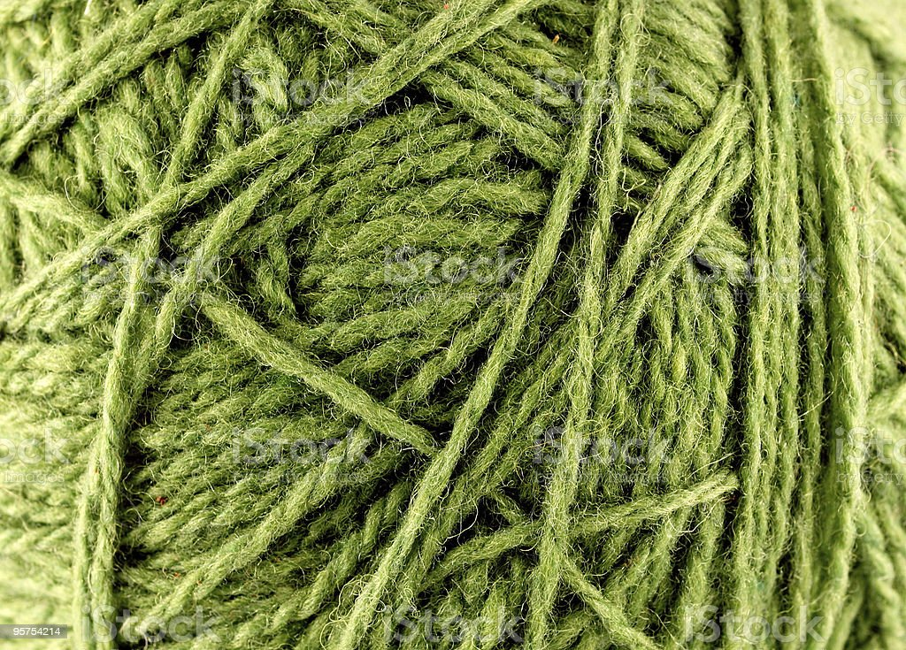 close up of woolen knittin ball royalty-free stock photo
