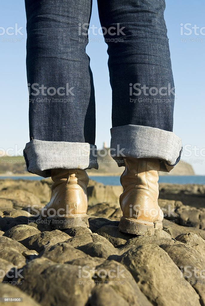 Close up of working boots royalty-free stock photo
