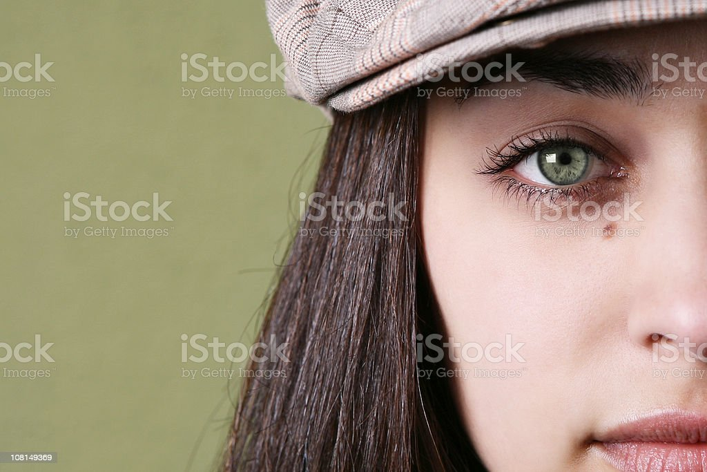 Close Up of young Girl's Eyes. royalty-free stock photo