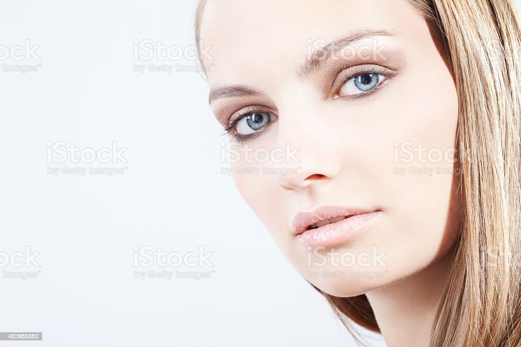 Close up of young,portrait stock photo