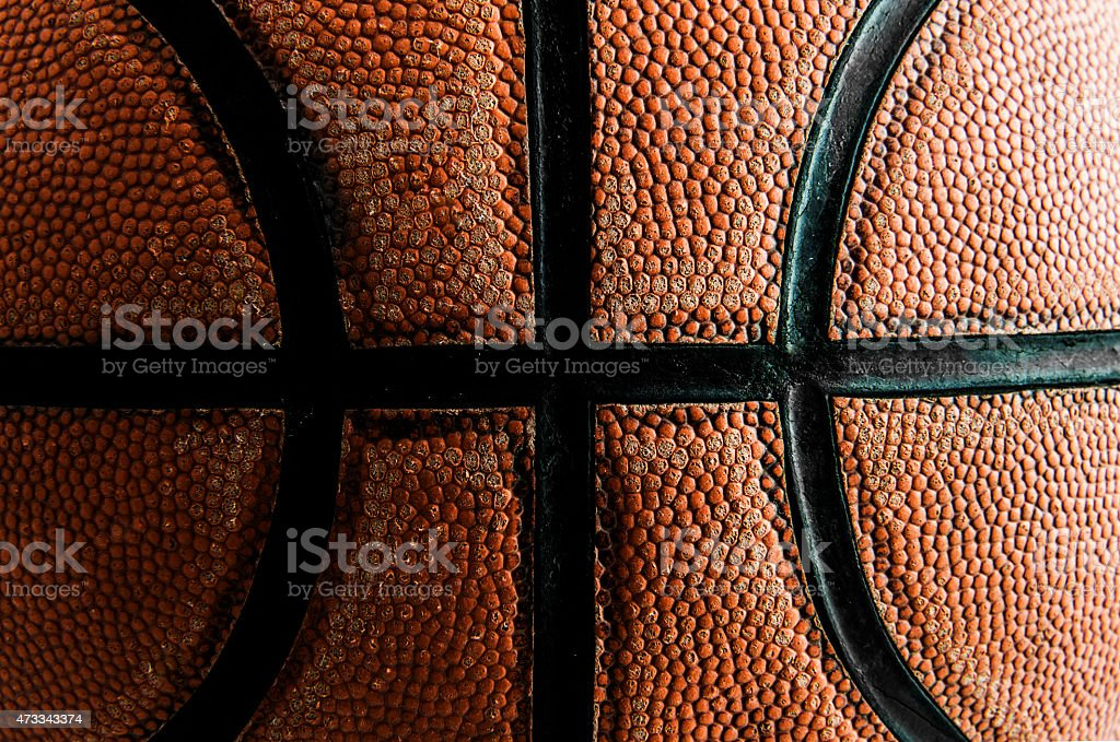 Close up old basketball background.