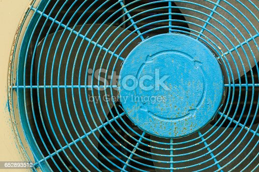 istock Close up old blue Grate of  Air Compressor 652893512