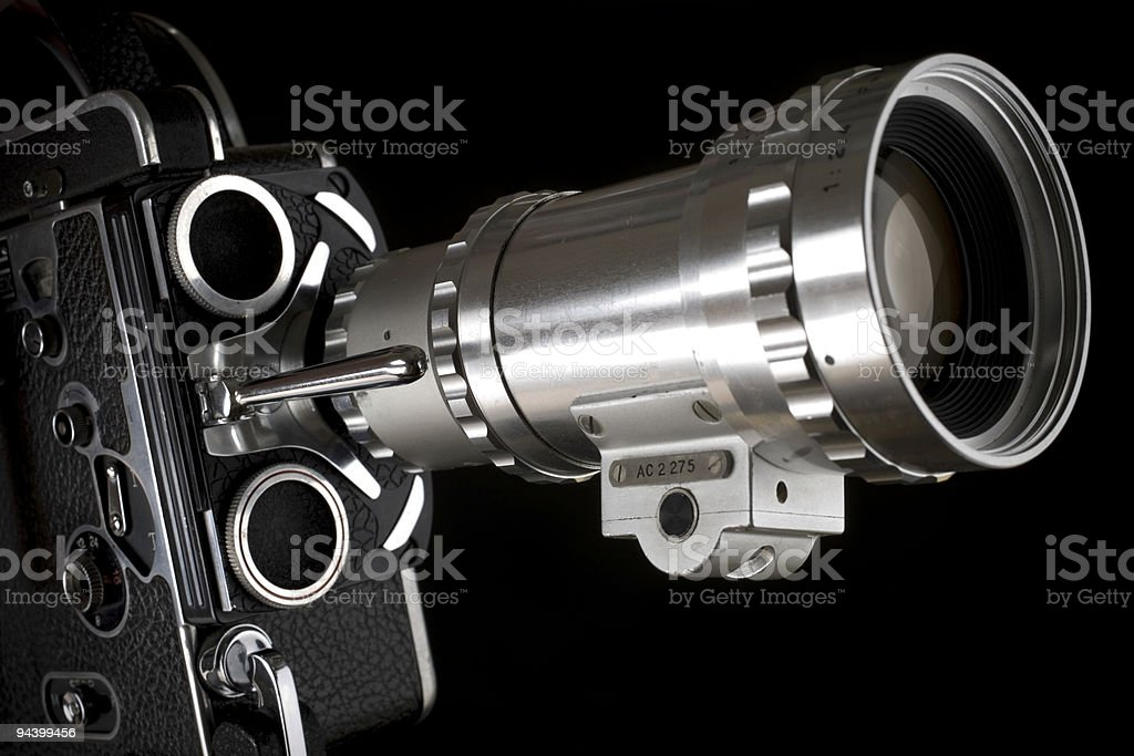 Close up Old Motion Film Camera 16 mm royalty-free stock photo
