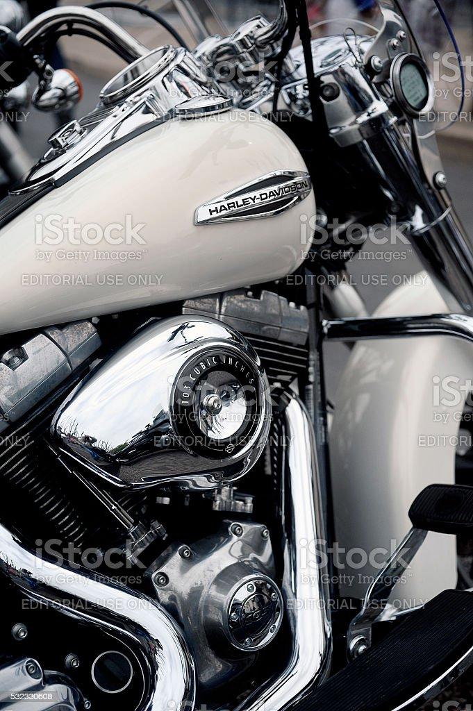 Harley Davidson Stock: Close Up On A Harley Davidson Stock Photo & More Pictures