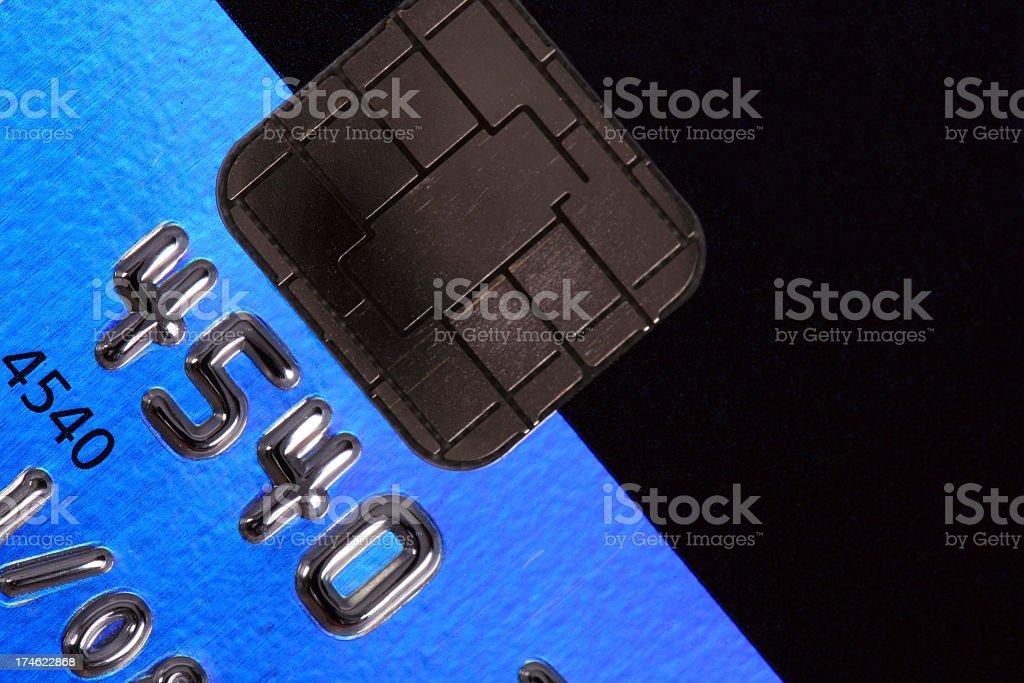 Close up on a platinum credit card stock photo