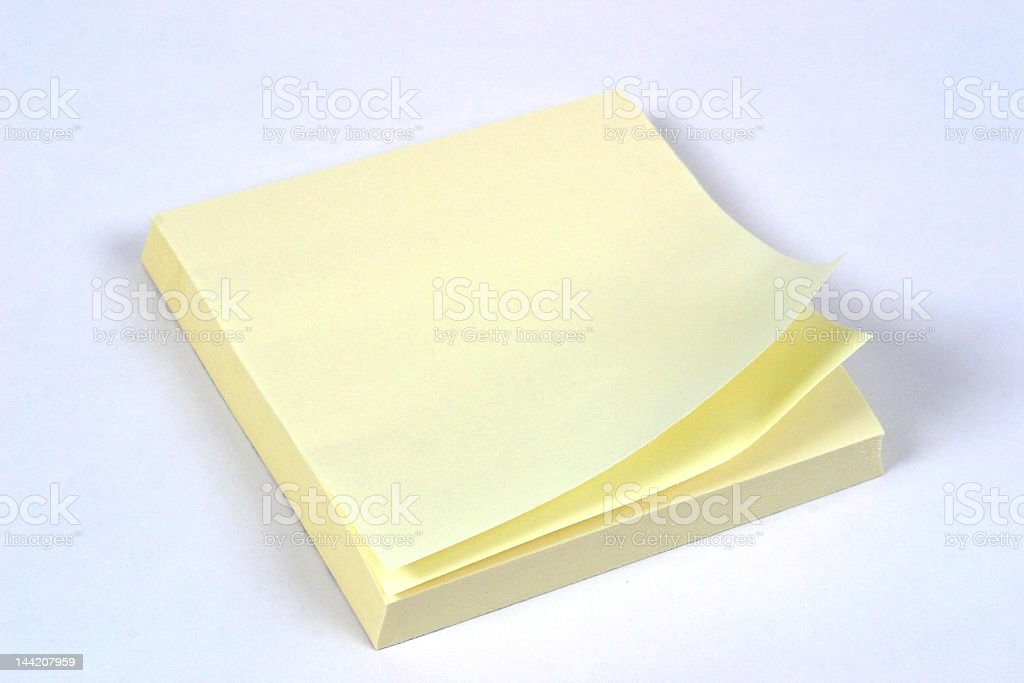 Close up on a stack of sticky notes royalty-free stock photo