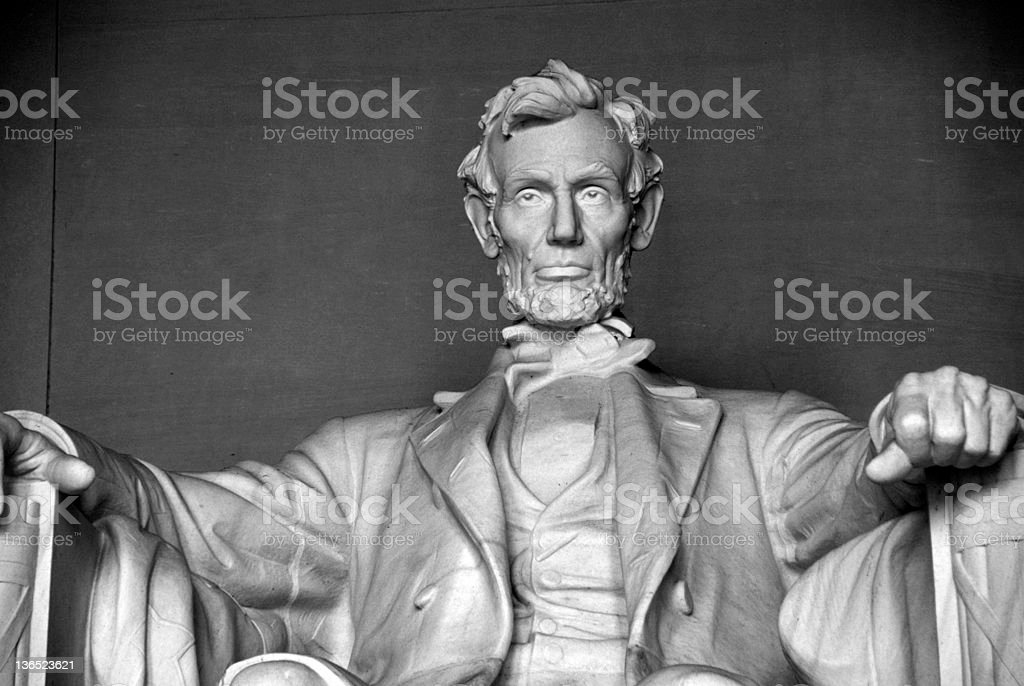 Close up on Abraham Lincoln royalty-free stock photo