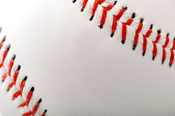 Close up on baseball ball with copyspace stock photo