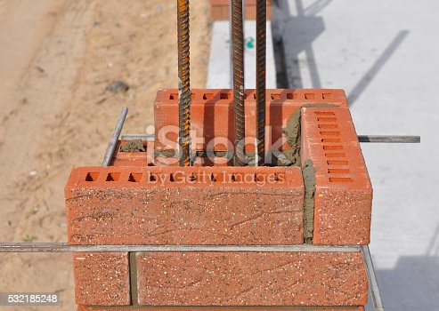 istock Close up on bricklaing 532185248