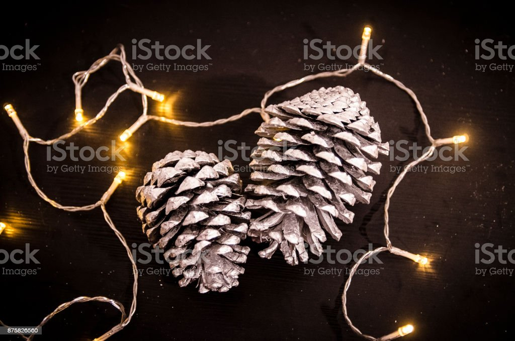 Close up on Christmas decorations stock photo