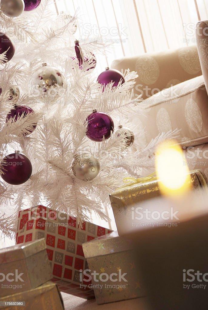 Close up on Christmas tree stock photo