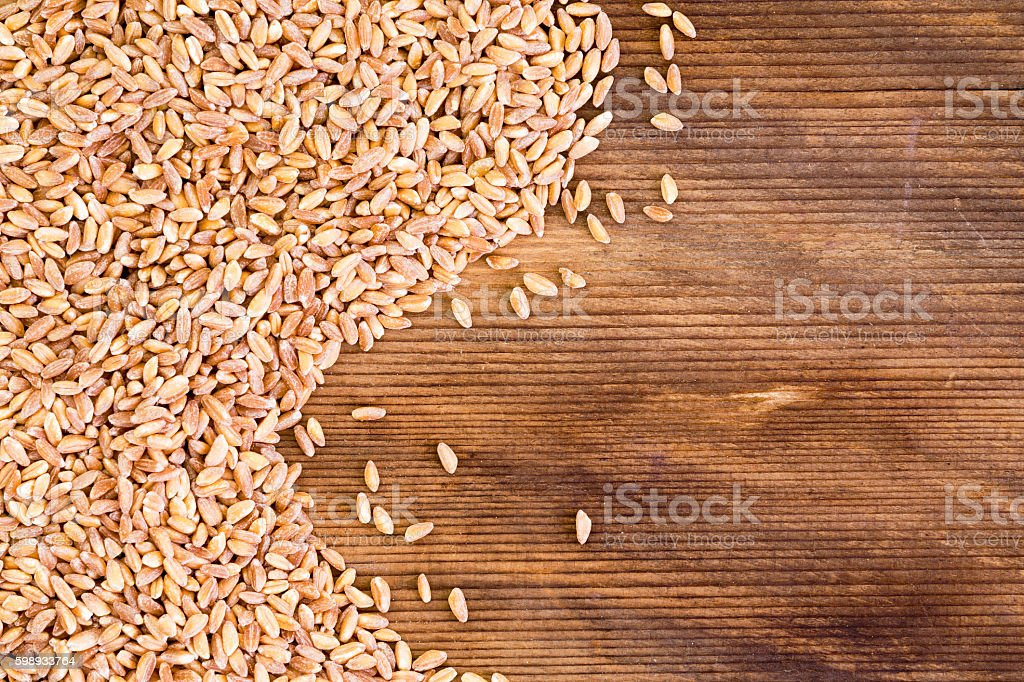 Close up on flax seed grains with copy space stock photo