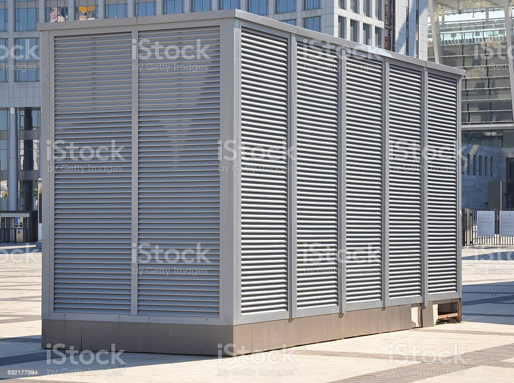 Close up on Industrial air conditioning and ventilation systems stock photo