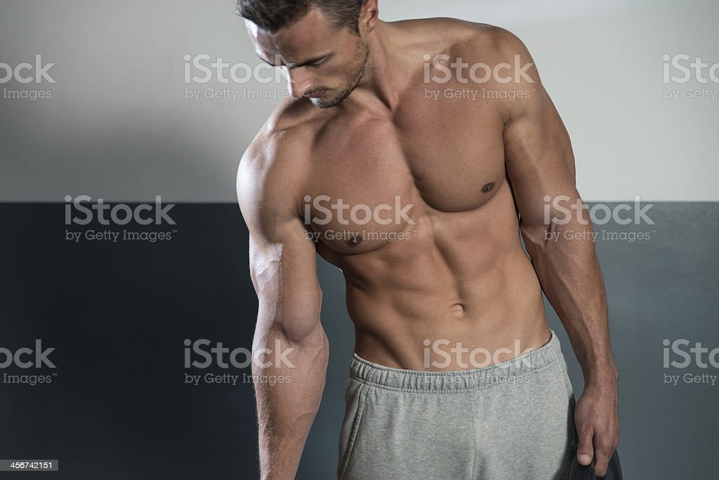 Close Up On Perfect Abs stock photo