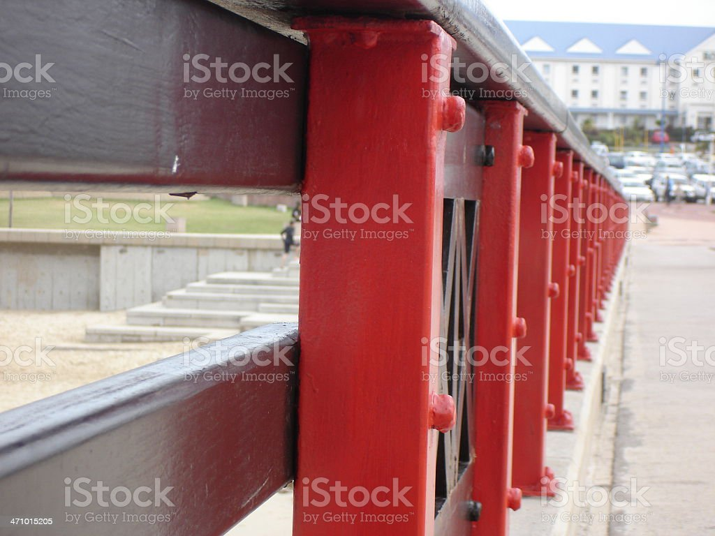 Close up on railing royalty-free stock photo