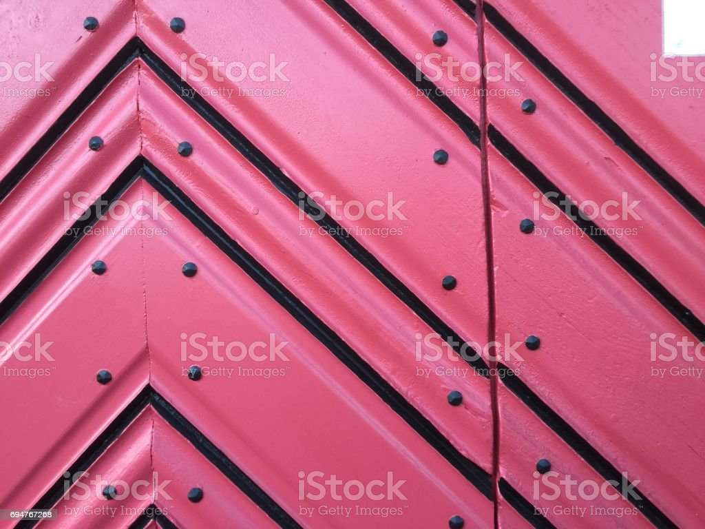 Close up on red door stock photo