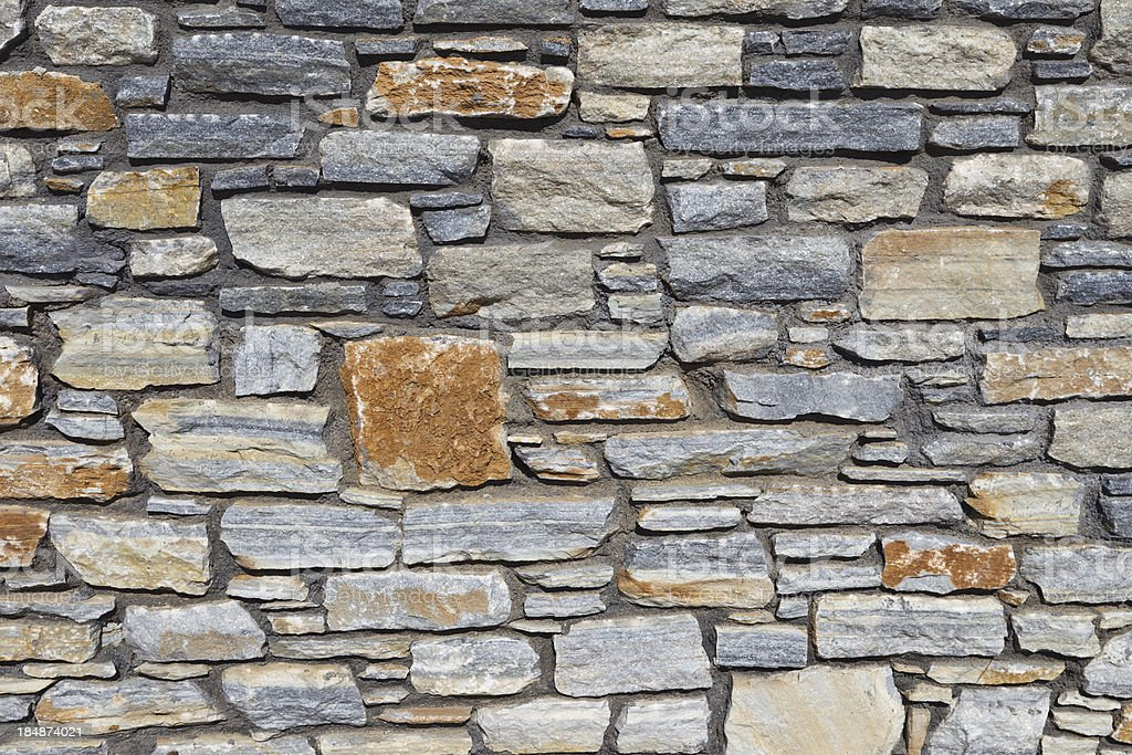 Close up on stone wall royalty-free stock photo