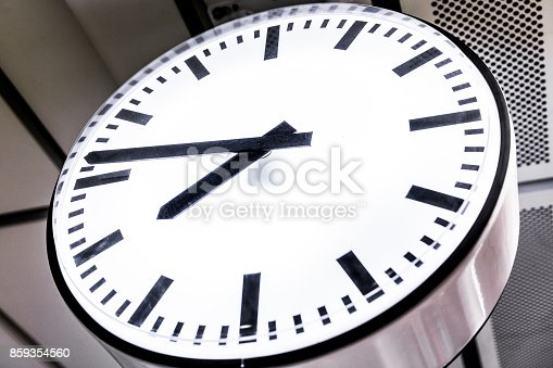 istock Close up on the clock, abstract time background. 859354560