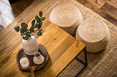 istock Close up on tray with decorative items. 1269153348