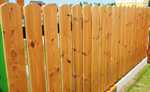 close up on wooden fence door.wood fence - wood fencing with copy space. - fence stock photos and pictures