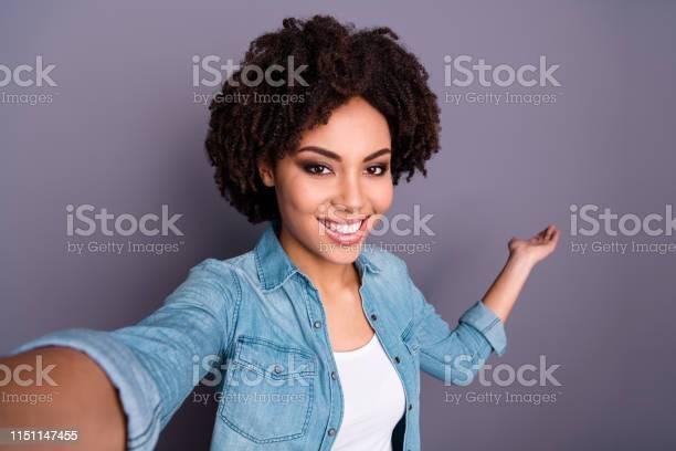 Close up photo of candid cheerful attractive lady make photos choose picture id1151147455?b=1&k=6&m=1151147455&s=612x612&h=qcpthv6oehhdfh j5gtomafjdggsof6x2q9faj xs1q=