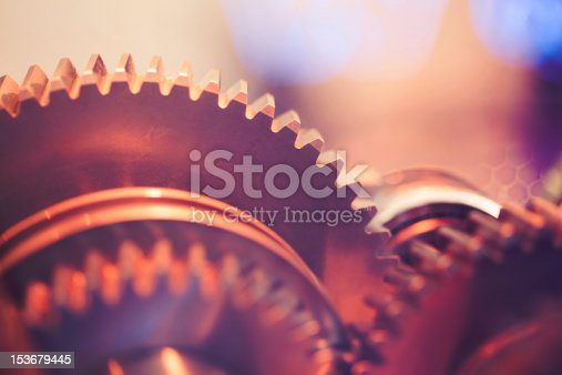 gear wheels with cogs, close-up