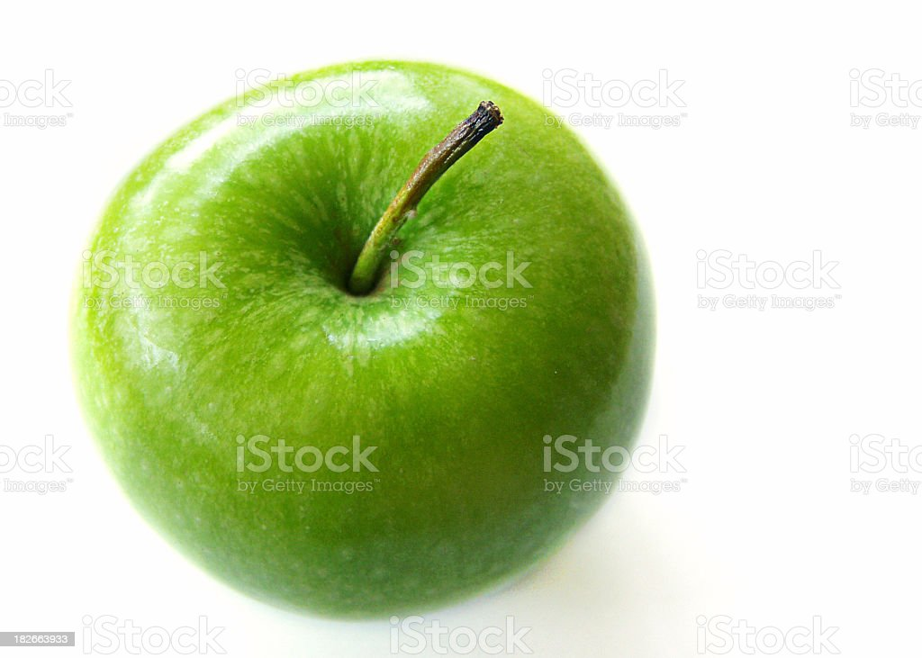 Close up photo of green Granny Smith apple stock photo