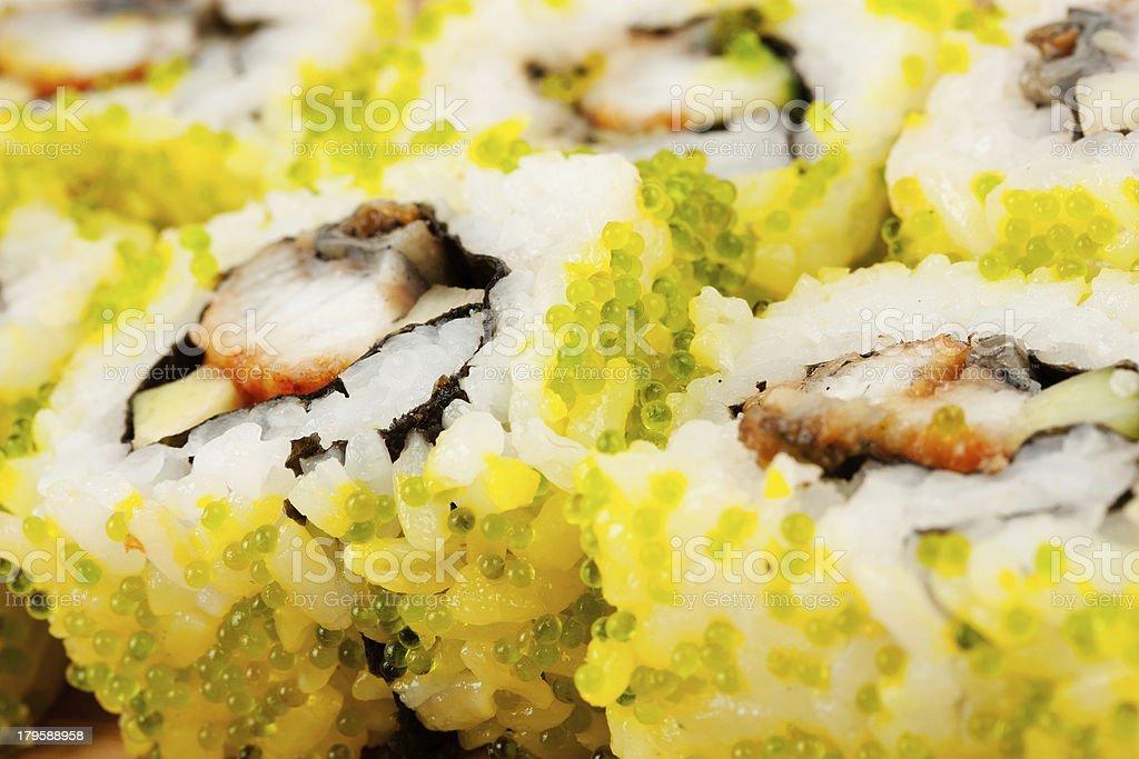 Close up photo of the sushi royalty-free stock photo