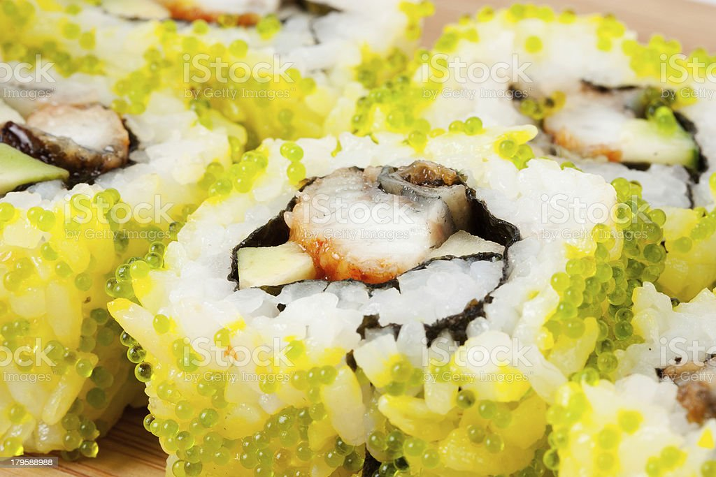 Close up photo of the sushi royalty-free stock photo